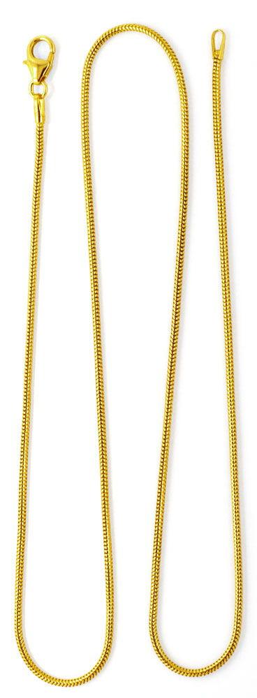 Foto 5, Massive flexible Schlangen Goldkette 45cm, 14K Gelbgold, Z0101