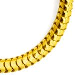 Massive flexible Schlangenkette 45cm in 14K Gelbgold