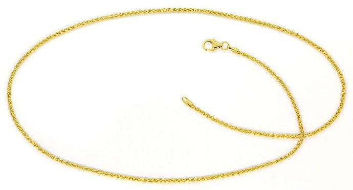Foto 1, Hochwertige Zopf-Goldkette Zopfkette 45cm, 14K Gelbgold, Z0103