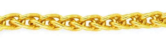 Foto 2, Massive Goldkette Zopfkette 45cm lang 14K Gelbgold, Z0103
