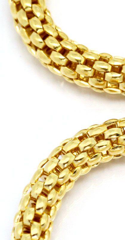 Foto 2, Himbeer Panda Gold-Kette in 14K Gelbgold Goldkette Shop, Z0105