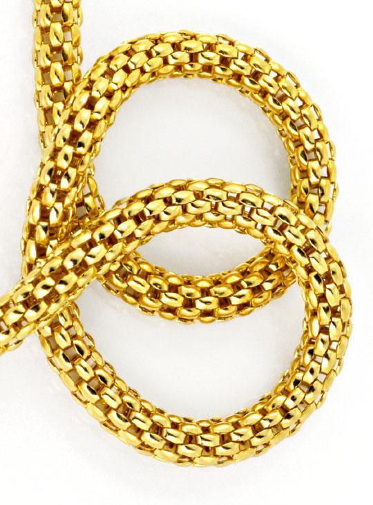 Foto 5, Himbeer Panda Gold Kette in 14K Gelbgold Goldkette Shop, Z0105