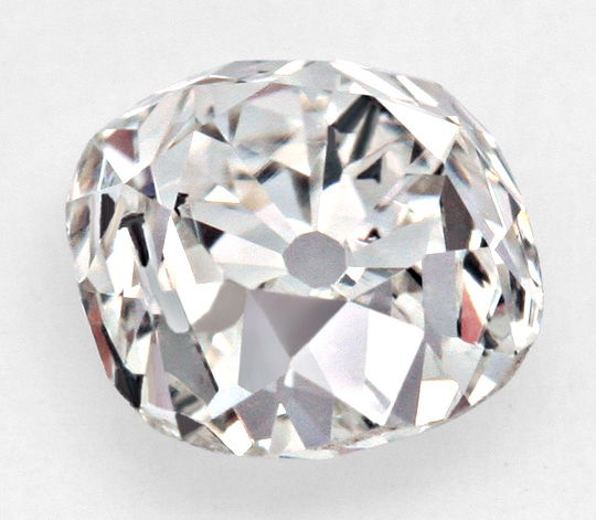 Diamant Altschliff Kissenform, Old Mine Cut Diamond