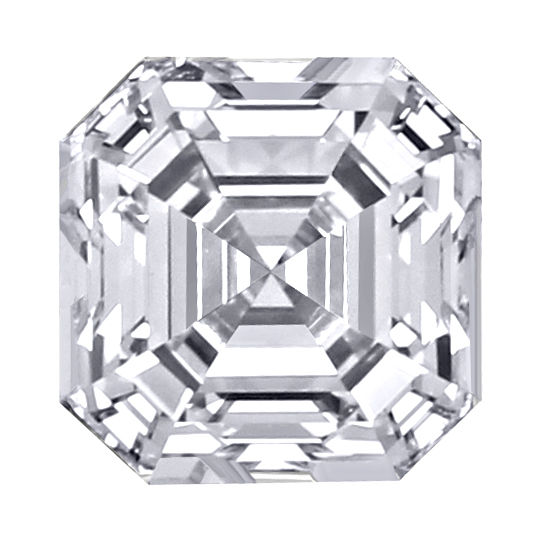 Diamant Asscher Schliff, Square Emerald Cut