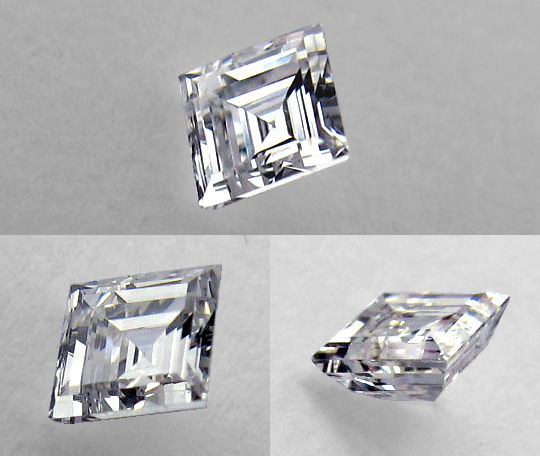 Diamant Quadrat-, Carree Schliff, Carree Cut Square Cut Diamond