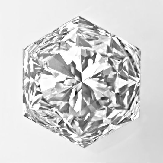 Diamant Fire-Rose Schliff Feuerrosen- Hexagon Schliff Fire-Rose Cut Diamond