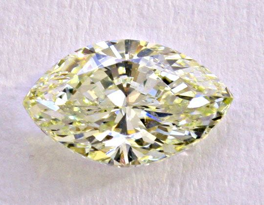 Diamant Navette-Schliff, Marquise-Cut Diamond, Zitrone - Yellow