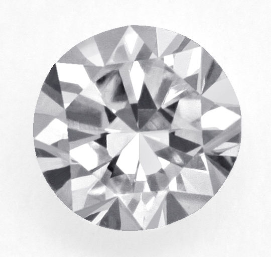 Diamant Sechzehnkant Schliff, Sixteen Facet Sided Cut Diamond