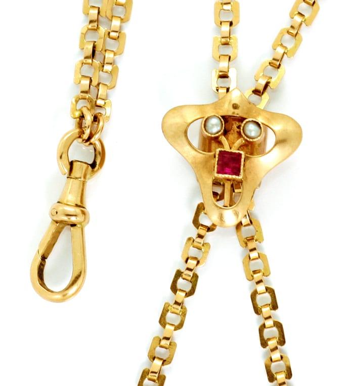 Antike taschenuhr mit kette  Jugendstil Biedermeier Schieberkette antik, für Damen-Taschenuhr