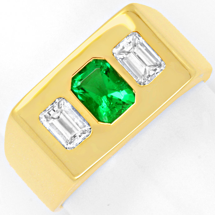 Foto 6: Diamantring Sensations-Smaragd 0,60ct und 0,80ct Emeraldcut-Diamant-Solitäre